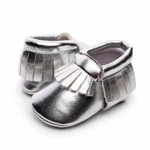 Other - New silver soft sole baby moccasins
